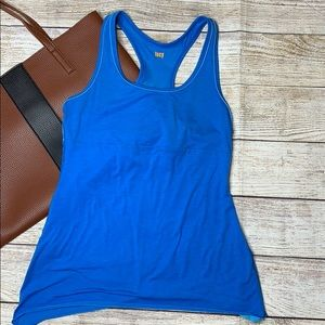 Lucy blue lined tank top